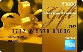 Rs.5000 AMEX Prepaid card for Rs.4500 at GiftcardsIndia