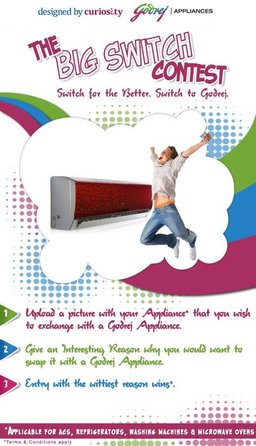 Godrej Appliances The Big Switch Contest