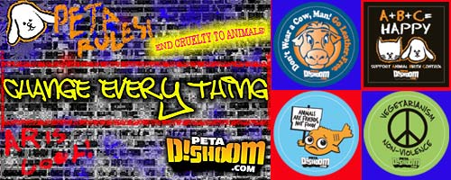 Free Stickers against animal cruelty @ petadishoom.com