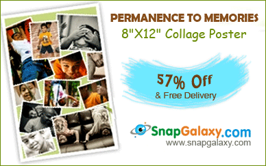 8″X12″ Collage Poster worth Rs.210 for Rs.90 (Free shipping)