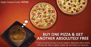Buy 1 Get 1 Pizza at Dominos