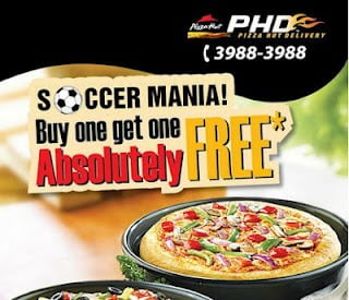 Pizza Hut Soccer Mania : Buy 1 Pizza & get Another Absolutely Free