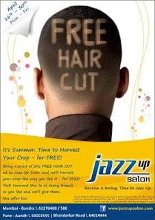 [Mumbai Deal] Free Hair Cut @ Jazz up Salon