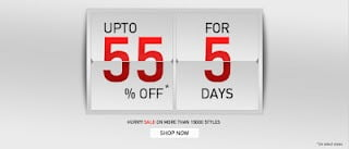 Flat 55% Sale on more than 2000 Products for 5 Days