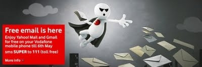 Free access to Yahoo Mail and Gmail on your Vodafone Mobile