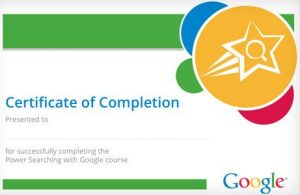 [Free Certification] Free Power Searching Online Certification Course from Google
