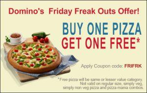 Buy 1 Get 1 Free Pizza @ Dominos