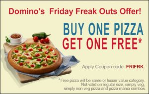 Only Today: Buy 1 Get 1 Free Pizza @ Dominos