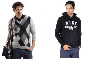 Minimum 40% off on LEE, Fila Sweaters/Sweat Shirts