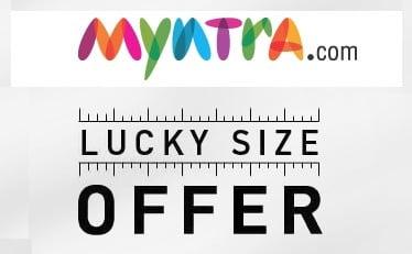 Myntra Lucky Size Sale: Upto 66% OFF