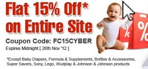 Firstcry 15% off Coupon code (Valid only for Today)