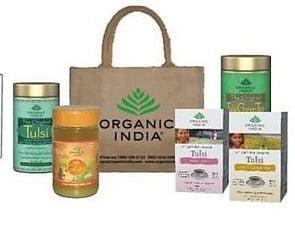Extra Flat 25% on Health Tea Products – Organic India Tulsi Breakfast Tea worth Rs.234 at Rs.157