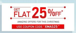 Flat 25% Off on lots of products at Myntra