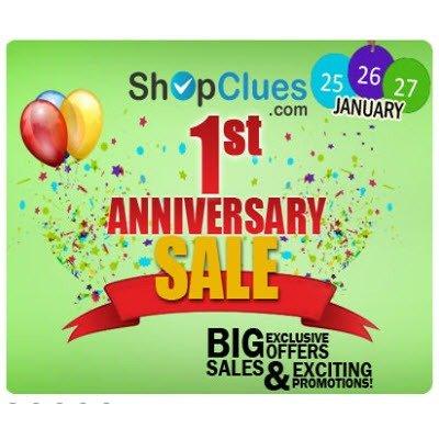 Shopclues 1st Anniversary 3 Days Sale