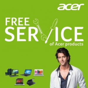 Free Service of Acer Laptop on 24th Jan – Valid across India