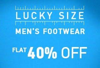 Lucky Size Sale – Flat 40% Discount on Branded Footwear (Sports & Formals) @ Myntra