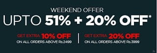 Flat 20% extra Discount on Already Discounted Fashion Brands upto 51% @ Myntra