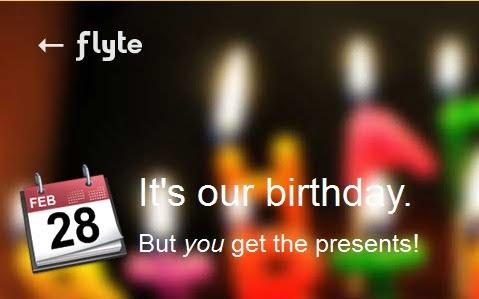 A Flyte Anniversary Offer- Free Music @ Flipkart