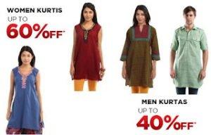 Shree Men Kurta for Rs.299 & Women Kurti for Rs.209