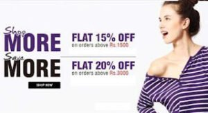 Flat 15% & 20% extra Discount on Already Discounted Fashion Brands