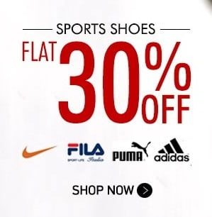 48 Hours Deal: Minimum Flat 30% & Max.70% Off + 20% Extra Off on Sports Shoes & Branded Apparels (Updated)