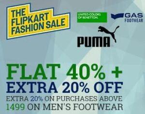 Men Footwear - Flat 40% Off