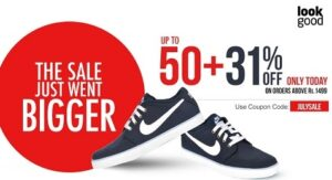 Upto 50% off + Exta 31% Off on Men's & Women's Clothing /Shoes & Accessories