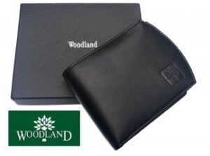 Woodland Men's Black  Leather Wallet worth Rs.1450 for Rs.297