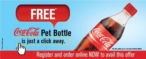 Free 600ML Coca Cola Pet Bottle with every order at Mcdonalds