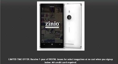 Top magazines DIGITAL issues free for 1 Year @ Zinio