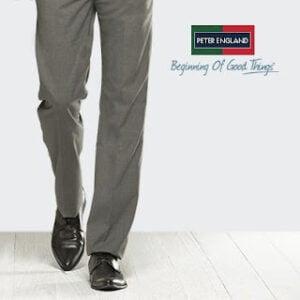 Peter England Men's Trousers - Flat 50% Discount