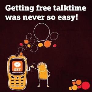 Free talk time for tata Docomo Customers