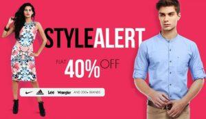 Flat 40% Off on Lee, Nike, Adidas & 200+ Brands