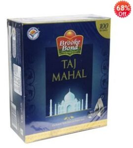 Shopclues Jaw Dropping Deal: Brooke Bond Taj Mahal 100 Tea Bags