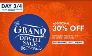 Grand Diwali Sale on Mens & Womens Footwear