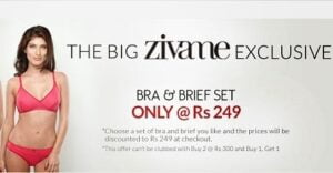 Zivame Exclusive: Biara Bra & Brief Set just for Rs.249