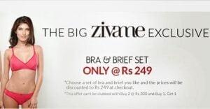 Zivame Exclusive: Biara Bra & Brief Set just for Rs.249