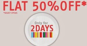 Flat 50% Discount on ShoppersStop Men / Women / Kids Apparels