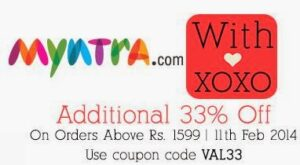 Valentine Offer: Get Flat 33% Additional Off on Min Cart Value of Rs.1599