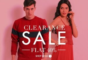 Clearance Sale: Flat 40% Off + Extra 30% Off on Branded Clothing & Footwear