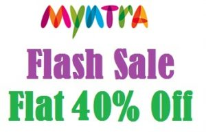 (Updated) Fashion Sale: Flat 38% Extra Off on Branded Fashion Wears at Myntra (Free Shipping for New Customers)