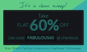 Zivame: Flat 60% Off on Women's Inner-wear | Clothes & Accessories (No Minimum Purchase)
