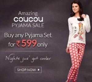 Coucou Women's / Girls Pyjama Set just for Rs.599 @ Zivame
