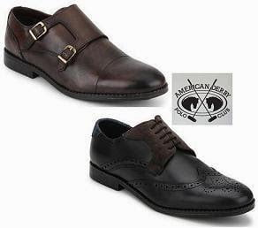 Genuine Leather American Derby Polo Club Formal / Casual Shoes - Flat 40% Off