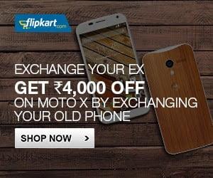Flipkart Exchange Offer on Moto-X Mobile Phone