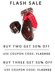 Buy 2 Products Get Flat 50% Off & Buy 3 Products Get Flat 55% Off @ Myntra (Free Shipping)