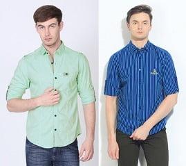 Flat 40% Off + Extra 35% Off on Smart Looking Men's Casual / Semi Casual Indian Garage Shirts @ Flipkart