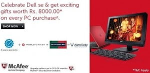 Dell Diwali Offer: Get Exciting Gift worth Rs.8000 on Every Purchase of Dell Inspiron i3, i5, i7 & AMD A6, XPS & Alienware Laptops @ Flipkart (Valid till 26th Oct'14)