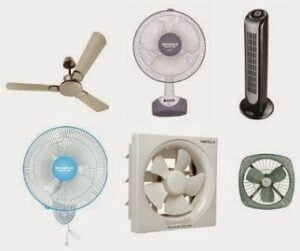 Ceiling Fans, Table Fans, Exhaust Fans, Tower Fan, Wall Fans - 15% Extra Off