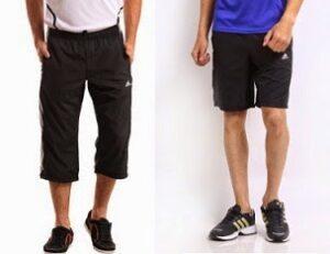 Flat 50% Off on Adidas, Reebok, Nike Men Shorts